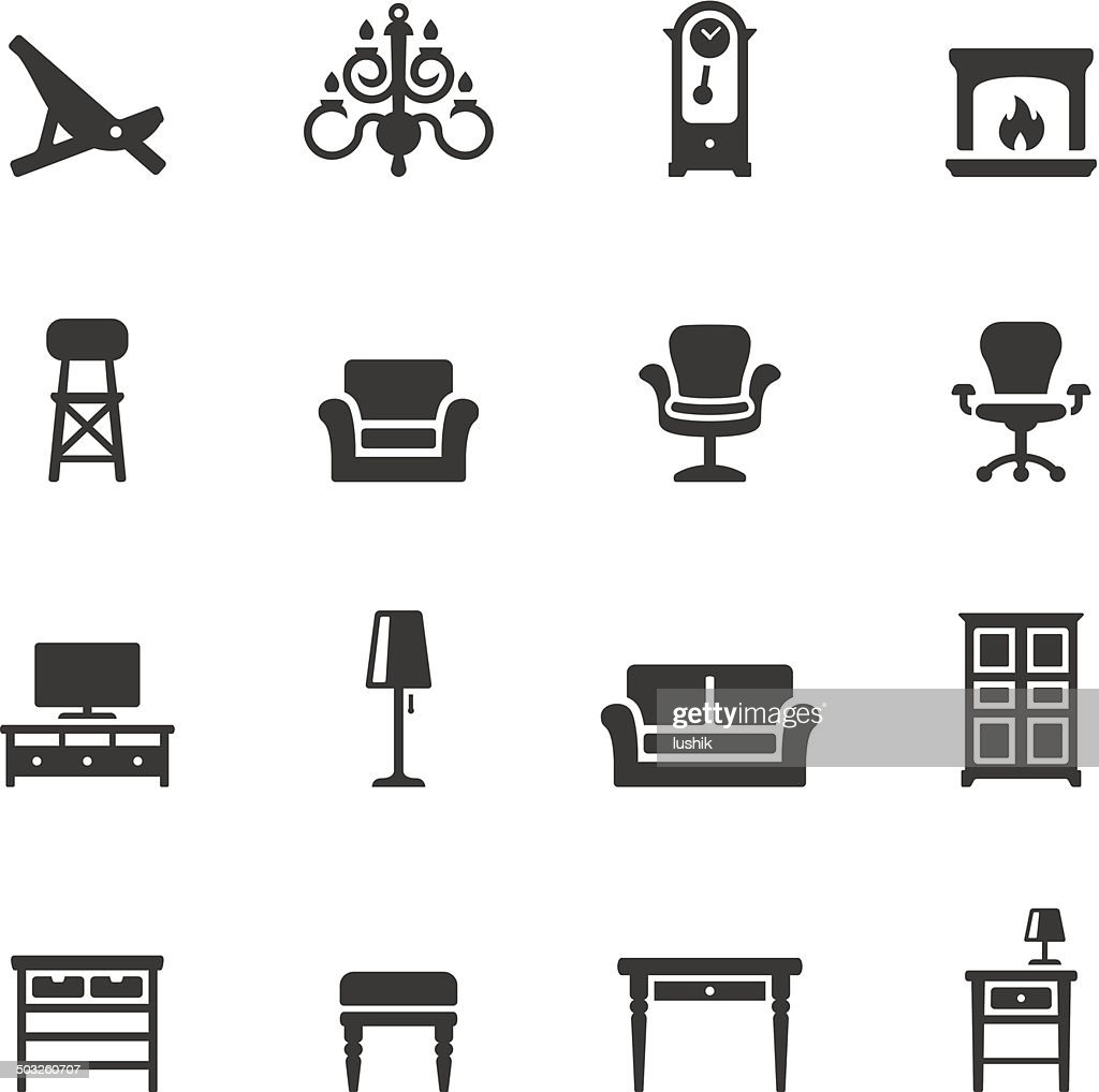 Soulico icons - Home Interior : Stock Illustration