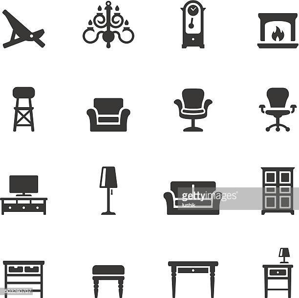 soulico icons - home interior - display cabinet stock illustrations, clip art, cartoons, & icons