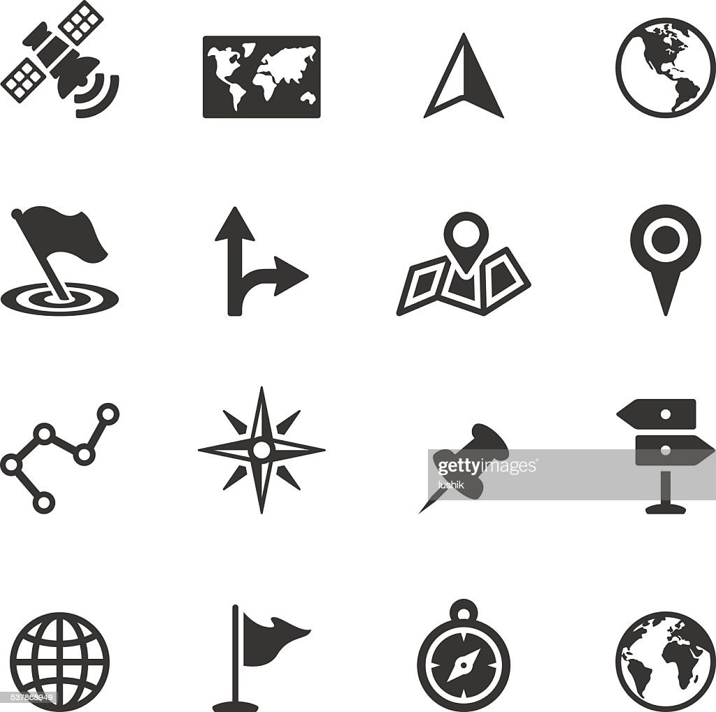 Soulico icons - Navigation and Map