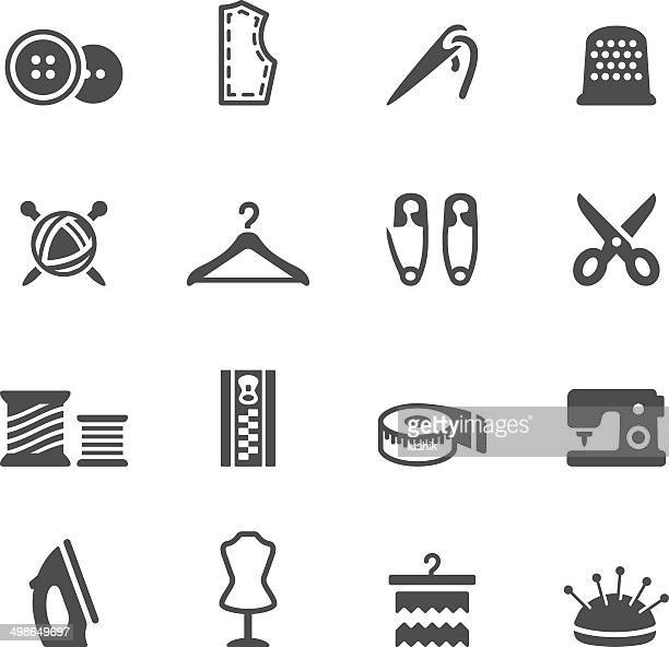 soulico icons - sewing - textile industry stock illustrations