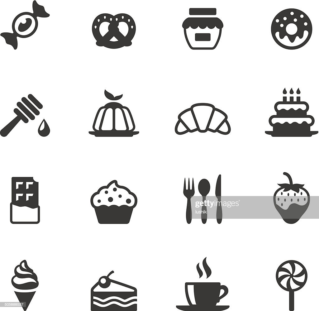 Soulico icons - Sweet Food : stock illustration