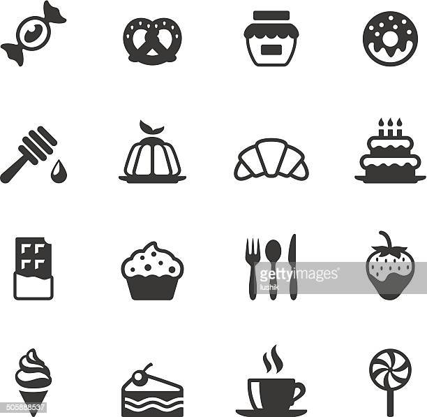 soulico icons - sweet food - donut stock illustrations, clip art, cartoons, & icons