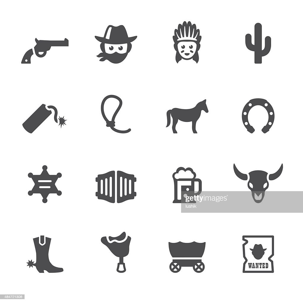 Soulico icons - Wild West and Cowboy