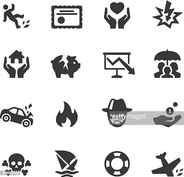 soulico - insurance icons - misfortune stock illustrations, clip art, cartoons, & icons