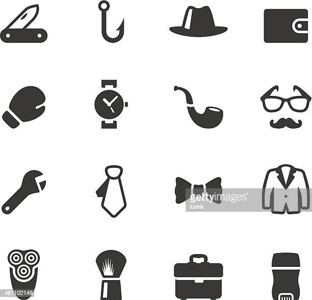soulico - men's stuff icons - masculinity stock illustrations
