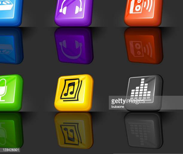 sound and music internet royalty free vector icon set