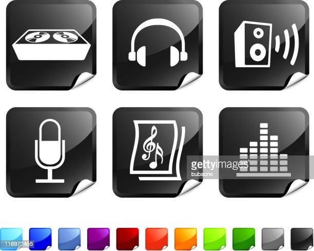 sound and music vector icon set