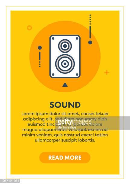sound concept banner - bass instrument stock illustrations, clip art, cartoons, & icons