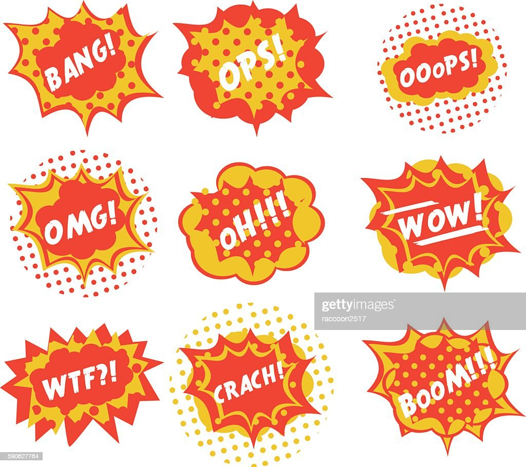 Sound effects are comic style pop art vector