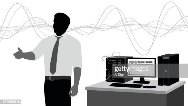 ilustraciones, imágenes clip art, dibujos animados e iconos de stock de profesor de ingeniería de sonido - ingeniero civil