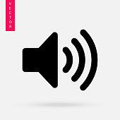 Sound Icon,  Speaker vector icon.