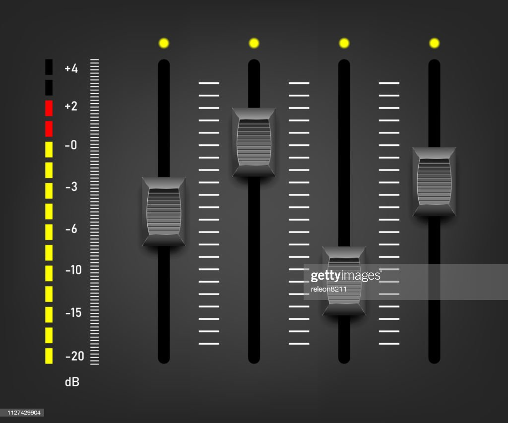 Sound mixer controller. Vector sound mixer