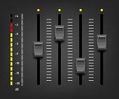 Sound mixer controller. Vector sound mixer