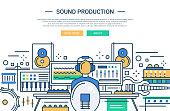 Sound Production - website header banner template