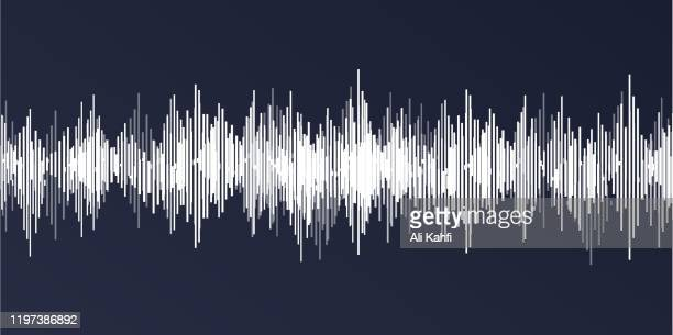 sound wave classic background - frequency stock illustrations