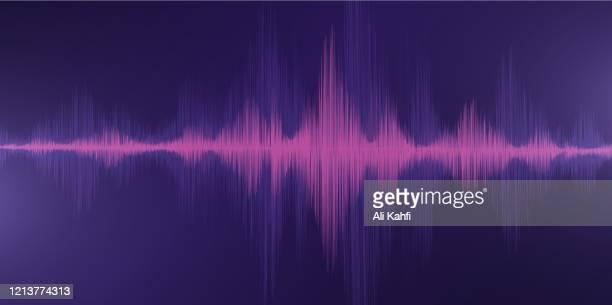 ilustrações, clipart, desenhos animados e ícones de fundo clássico da onda sonora - oscilação curvada