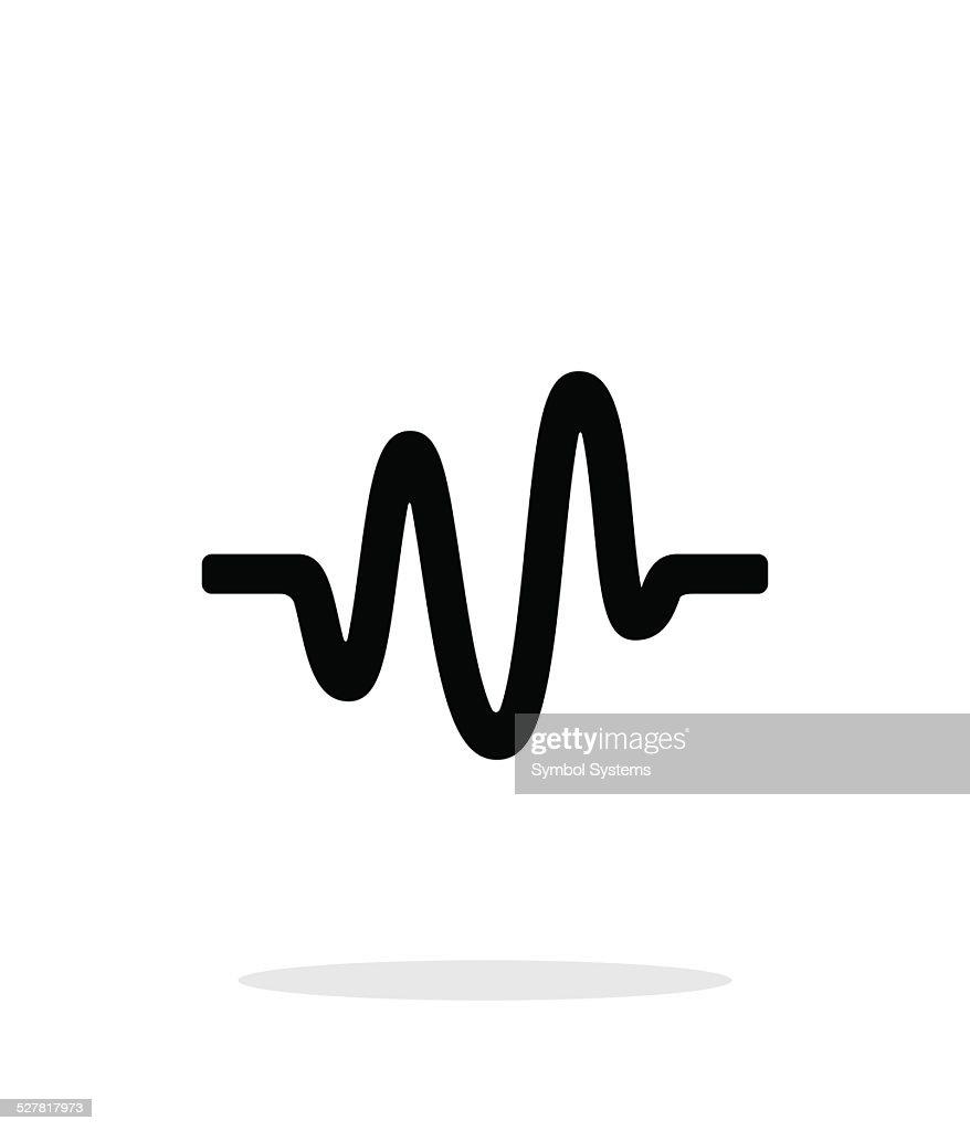 Sound wave icon on white background.