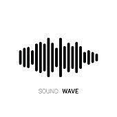 Sound wave on white background. Music equalizer. Vector