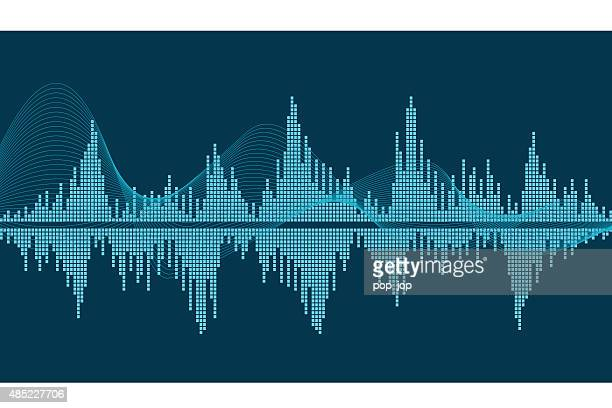 sound wave - frequency stock illustrations