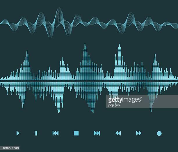 sound wave - soundtrack stock illustrations, clip art, cartoons, & icons