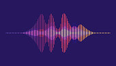 Sound waves. Motion sound wave abstract background.