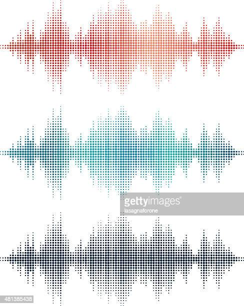 sound waves v3 (circles) - treble clef stock illustrations, clip art, cartoons, & icons