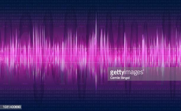 音の波のベクトルの背景 - リヒタースケール点のイラスト素材/クリップアート素材/マンガ素材/アイコン素材