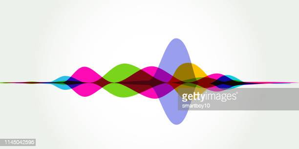 sound waves - listening to heartbeat stock illustrations, clip art, cartoons, & icons