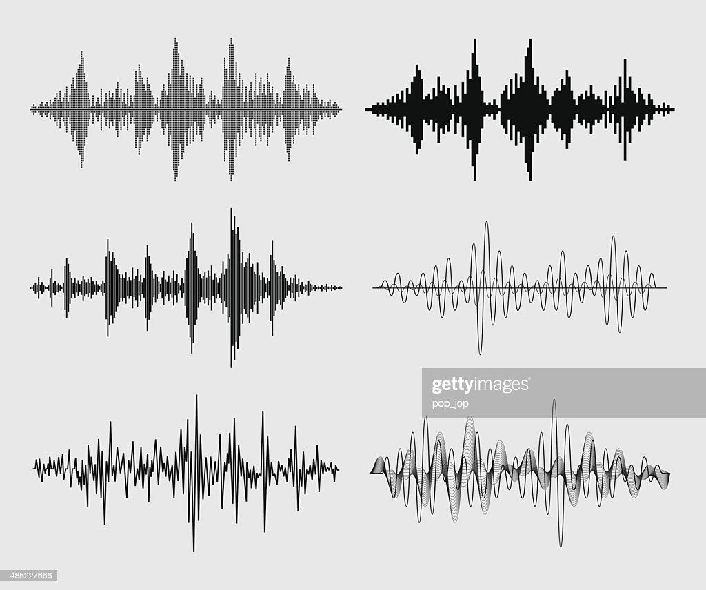 Sound Waves - Vector Set : stock illustration