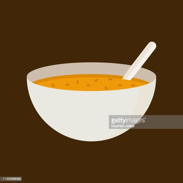 soup bowl icon - soup bowl stock illustrations