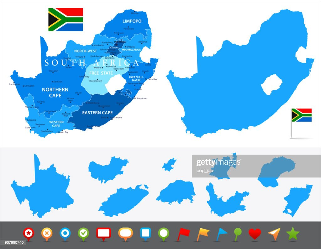 29 - South Africa - Blue and Pieces 10 : stock illustration