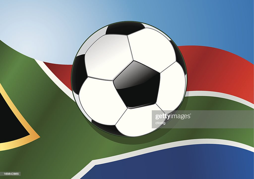 South Africa blue : stock illustration