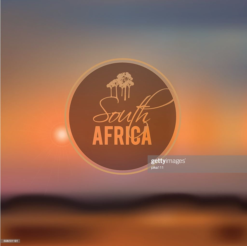south africa blurry landscape vector illustration