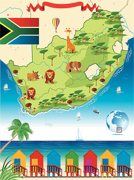 South Africa Cartoon Map Fine Art Prints Photos Com
