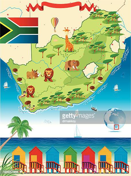 South Africa Cartoon Map
