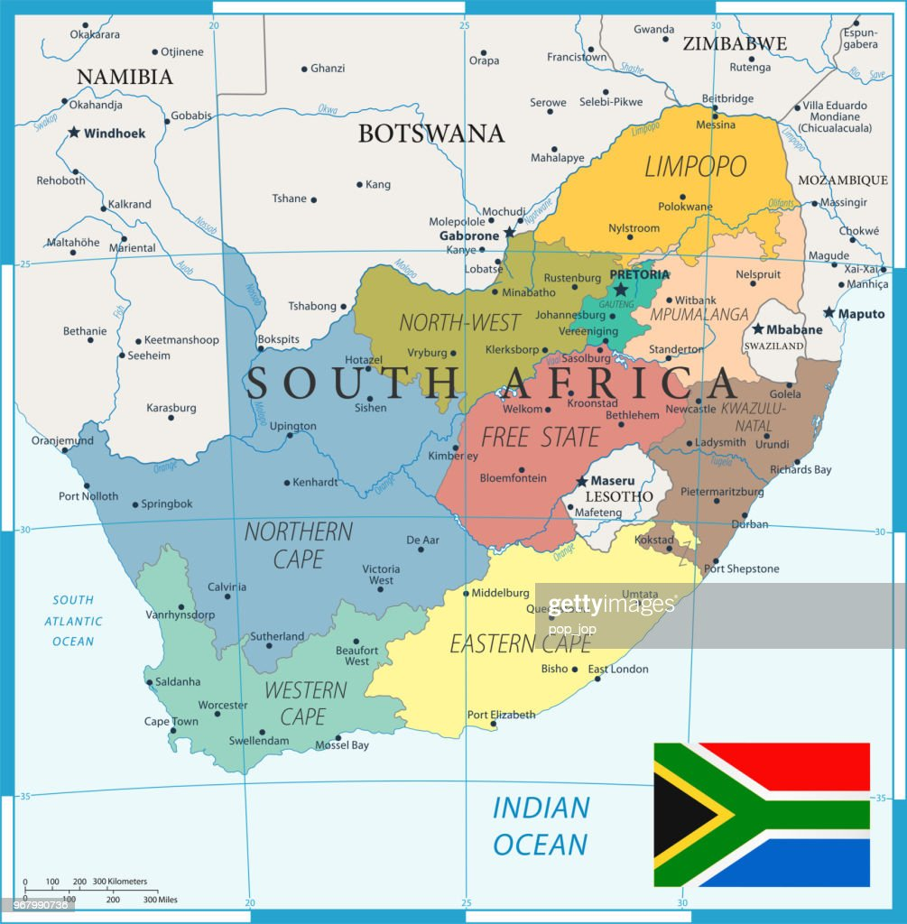 27 - South Africa - Color1 10 : stock illustration