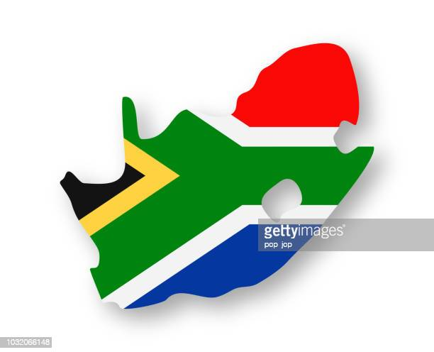South Africa - Contour Country Flag Vector Flat Icon