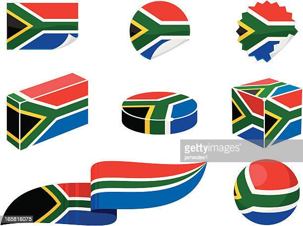 ilustrações, clipart, desenhos animados e ícones de áfrica do sul os elementos de design - bandeira sul africana