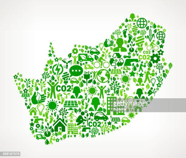 South Africa Environmental Conservation and Nature interface icon Pattern