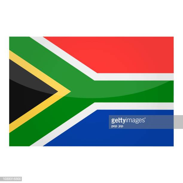 South Africa - Flag Vector Glossy Icon