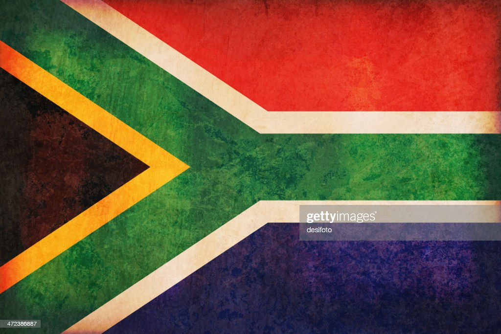 South Africa grunge flag : stock illustration