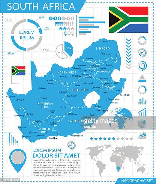 South Africa - infographic map - Illustration