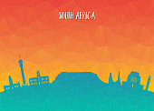South africa Landmark Global Travel And Journey paper background. Vector Design Template.used for your advertisement, book, banner, template, travel business or presentation.