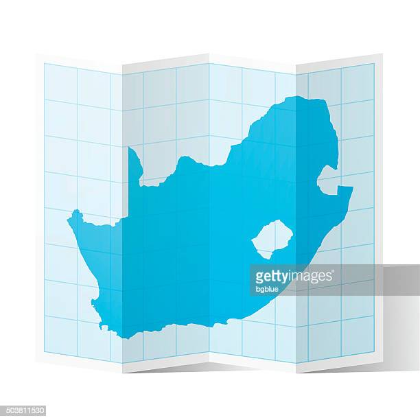 bildbanksillustrationer, clip art samt tecknat material och ikoner med south africa map folded, isolated on white background - johannesburg