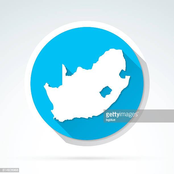 South Africa map icon, Flat Design, Long Shadow