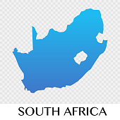 South Africa map in Africa  continent illustration design