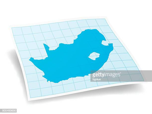 South Africa Map isolated on white Background