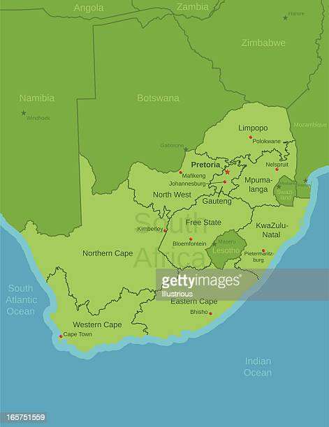 South Africa Map showing Provinces