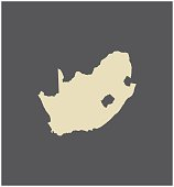 South Africa map vector outline