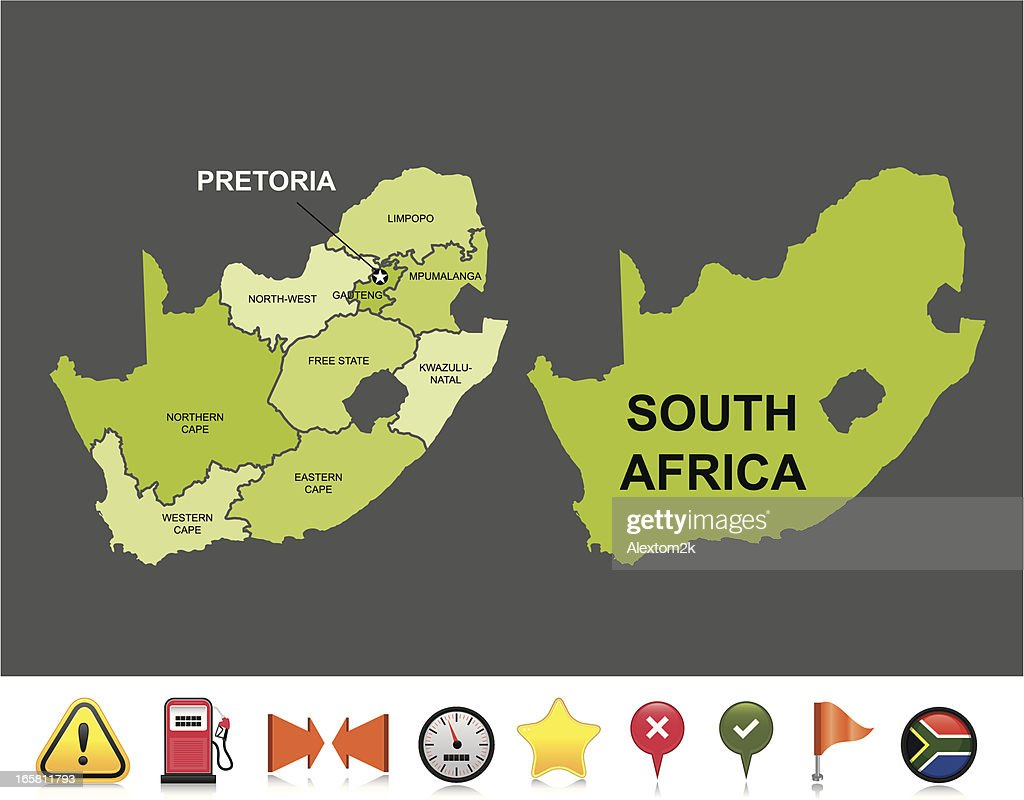 South Africa navigation map